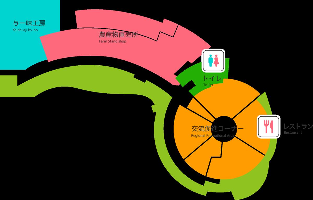 道の駅とよとみご案内マップ